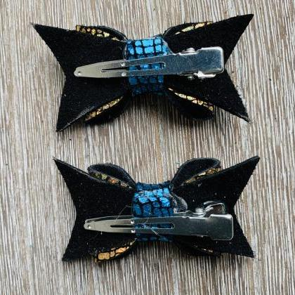 Leather Hair Bows | Genuine Leather..