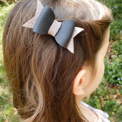 Cute Hair Bow | Leather Hair Bow | ..