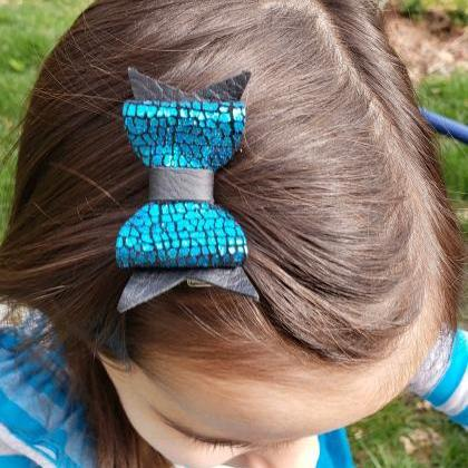 Cute Hair Bow | Leather Hair Bows |..