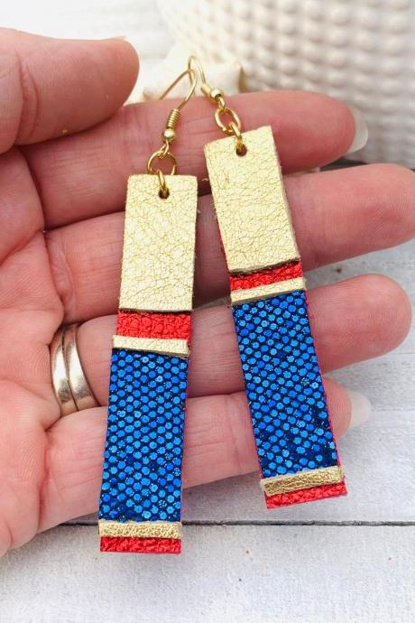 Cute Leather Earrings, LipSense Leather Earrings | Lipsense | Lipstick Leather Earrings